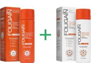 Foligain shampoo + conditioner voor mannen combinatiepakket -