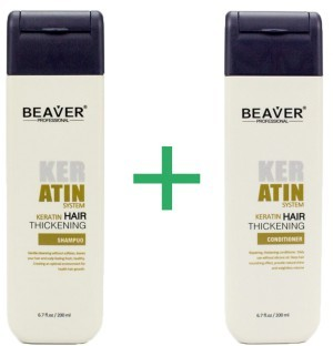 Beaver keratine shampoo + conditioner combinatiepakket -