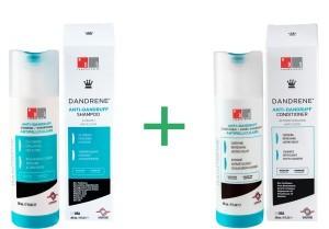 Dandrene anti-dandruff shampoo + conditioner combination package -