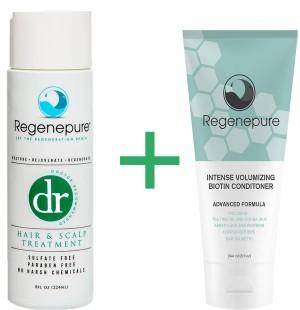 Regenepure DR + Biotin conditioner combination pack -