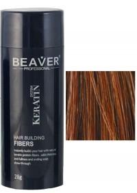 beaver keratin hair building fibers auburn 28 gr keratine