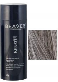 beaver keratin haarfasern grau 28 gr hairfaser building auswaschbare spray