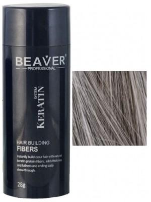 Beaver Keratin Haarfasern - Grau (28 gr) - hairfaser auswaschbare