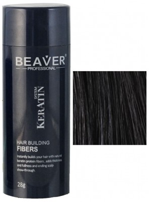 Beaver keratin hair building fibers - Black (28 gr) - fibres surethik builder qatar tunisia stockholm cerratin lowest