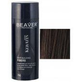 beaver keratin hair building fibers dark brown 28 gr dry shampoo for thinning treatment