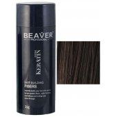 beaver keratine haarvezels donkerbruin 28 gr vezels toppik haarpoeder kleur