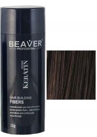 beaver keratin hair building fibers dark brown 28 gr dry shampoo for thinning treatment