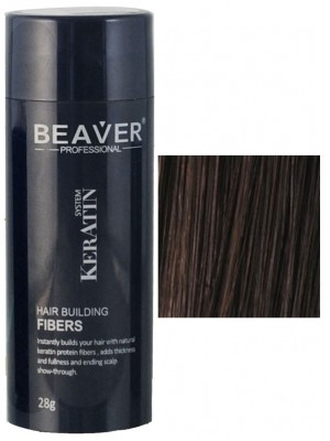 Beaver keratin hair building fibers - Dark brown (28 gr) -