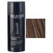 keratine haarvezels 28 gram medium bruin beaver voor haar poeder donker nanogen ervaringen toppik