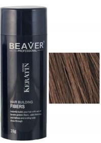 beaver keratine haarvezels medium bruin 28 gr toppik voor haar poeder donker nanogen haarpoeder