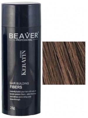 Beaver keratine haarvezels - Medium bruin (28 gr) - ketoconazol airbrush