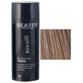 beaver keratin hair building fibers light brown 28 gr natural nanoxidil lietuvoje