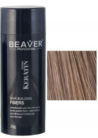 beaver keratin hair building fibers light brown 28 gr natural nanoxidil lietuvoje