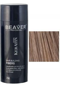 beaver keratin hair building fibers light brown 28 gr