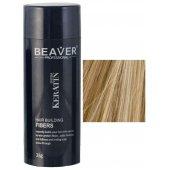 beaver keratine haarvezels medium blond 28 gr grijs haarpoeder volume kale plekken camouflage gebruiksaanwkeratine de haar groeispeci haarvezel