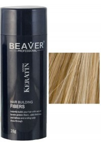 beaver keratin hair building fibers medium blonde 28 gr vellus growth keratine