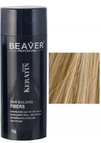 beaver keratine haarvezels medium blond 28 gr grijs
