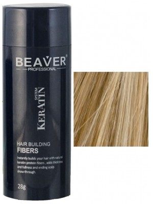 Beaver keratin hair building fibers - Medium blonde (28 gr) -