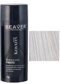 beaver keratin haarfasern weis 28 gr professional hair building fibers