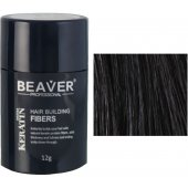 beaver keratin hair building fibers black 12 gr professional cut men