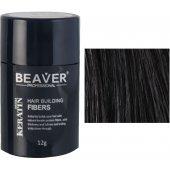 beaver keratine haarvezels zwart 12 gr zwarte camouflage poeder haar volume kale