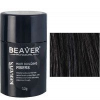 beaver keratin hair building fibers black 12 gr professional cut men