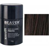 beaver keratine haarvezels donkerbruin 12 gr haarpoeder voor kale plekken kopen man poeder haar