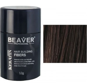 Beaver keratin hair building fibers - Dark brown (12 gr) - comprar espanol