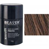 beaver keratin haarfasern mittelbraun 12 gr haarverlust fasern beavers puder hair loss