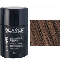 beaver keratin hair building fibers medium brown 12 gr 30 builder fiber precio