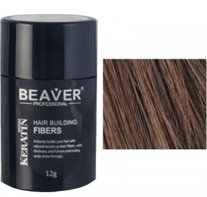 Beaver keratin hair building fibers - Medium brown (12 gr) - builder precio keratina cosmetica sculptor sevich