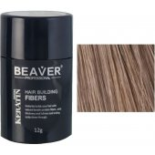 beaver keratin hair building fibers light brown 12 gr