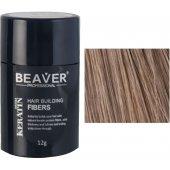 beaver keratine haarvezels lichtbruin 12 gr lichtbruine haar haarpoeder kale plekken beste gekleurd poeder voor