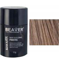 beaver keratine haarvezels lichtbruin 12 gr lichtbruine haar haarpoeder kale plekken beste haarkleur gekleurd poeder