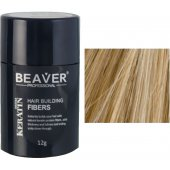 beaver keratin hair building fibers medium blonde 12 gr