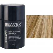 beaver keratine haarvezels medium blond 12 gr haar keramine poeder hair fibers voor kale plekken