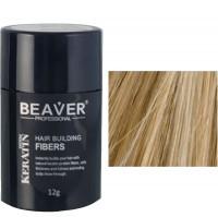 beaver keratin hair building fibers medium blonde 12 gr