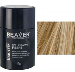 Beaver keratin hair building fibers - Medium blonde (12 gr) -