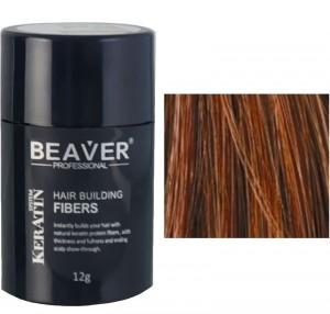 Beaver keratin hair building fibers - Auburn (12 gr) -
