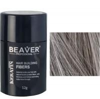 beaver keratin hair building fibers gray 12 gr grey dye color women foligain crown top haag treatment