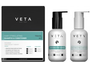 Veta shampoo + conditioner travel kit -