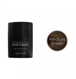 Kmax keratine haarvezels - Medium bruin (5 gr) -