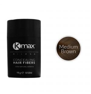 Kmax keratine haarvezels - Medium bruin (15 gr) -