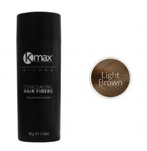 Kmax keratine haarvezels - Lichtbruin (32 gr) -