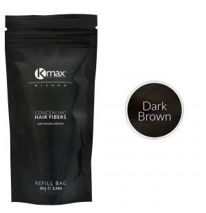 Kmax keratine haarvezels - Donkerbruin (64 gr) -