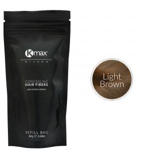 Kmax keratine haarvezels - Lichtbruin (64 gr) -