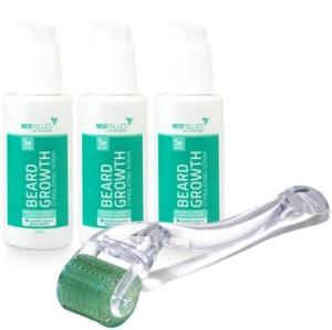 3x Neofollics beard growth serum + free dermaroller -