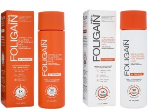 Foligain shampoo + conditioner for men combination package -